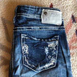 Silver Jeans Tuesday distressed straight leg